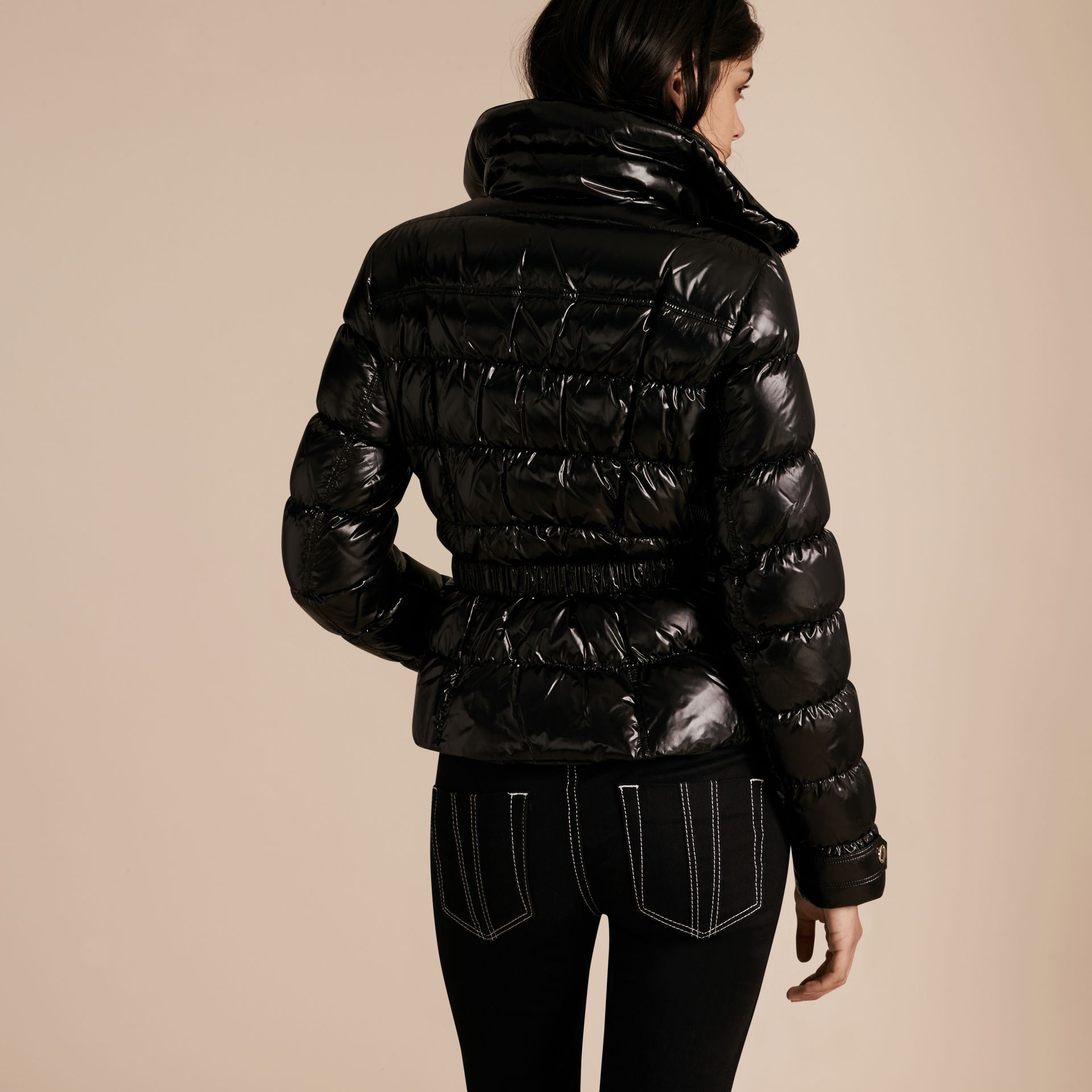 Black Lightweight Down-filled Jacket - gallery image 3