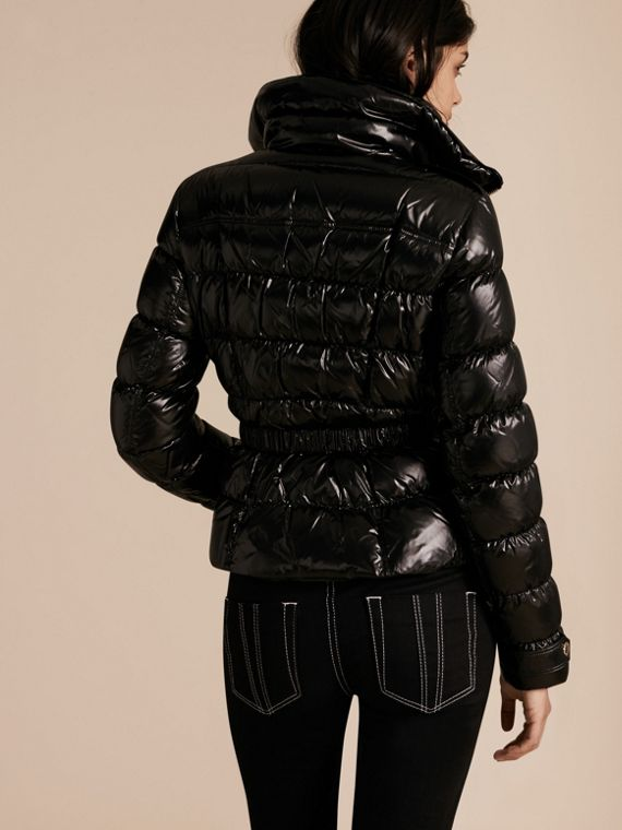 Black Lightweight Down-filled Jacket - cell image 2