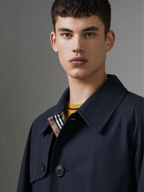 Icon Stripe Cotton Gabardine Trench Coat in Navy - Men | Burberry - cell image 1