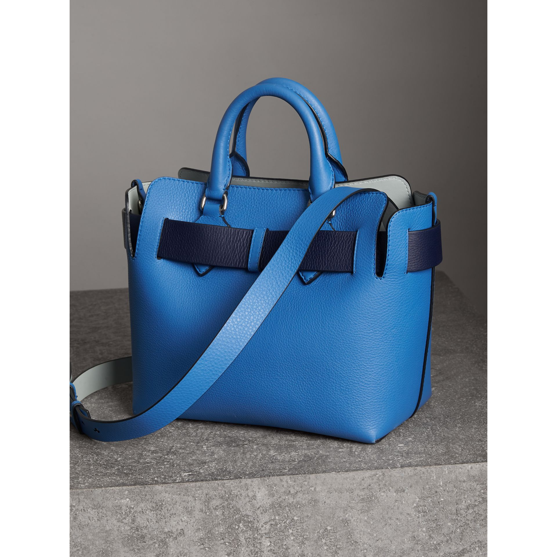 The Small Leather Belt Bag in Hydrangea Blue - Women | Burberry - gallery image 3