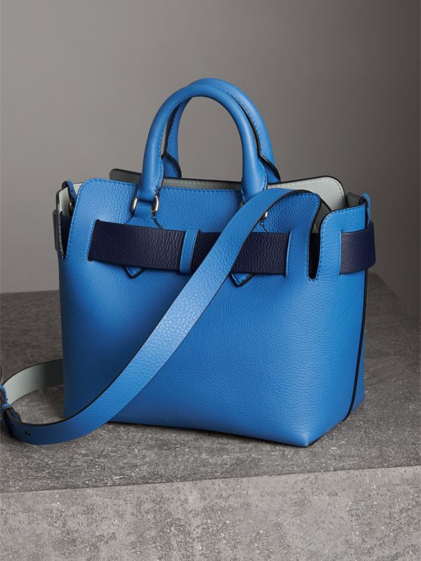 The Small Leather Belt Bag in Hydrangea Blue - Women | Burberry Singapore - cell image 3