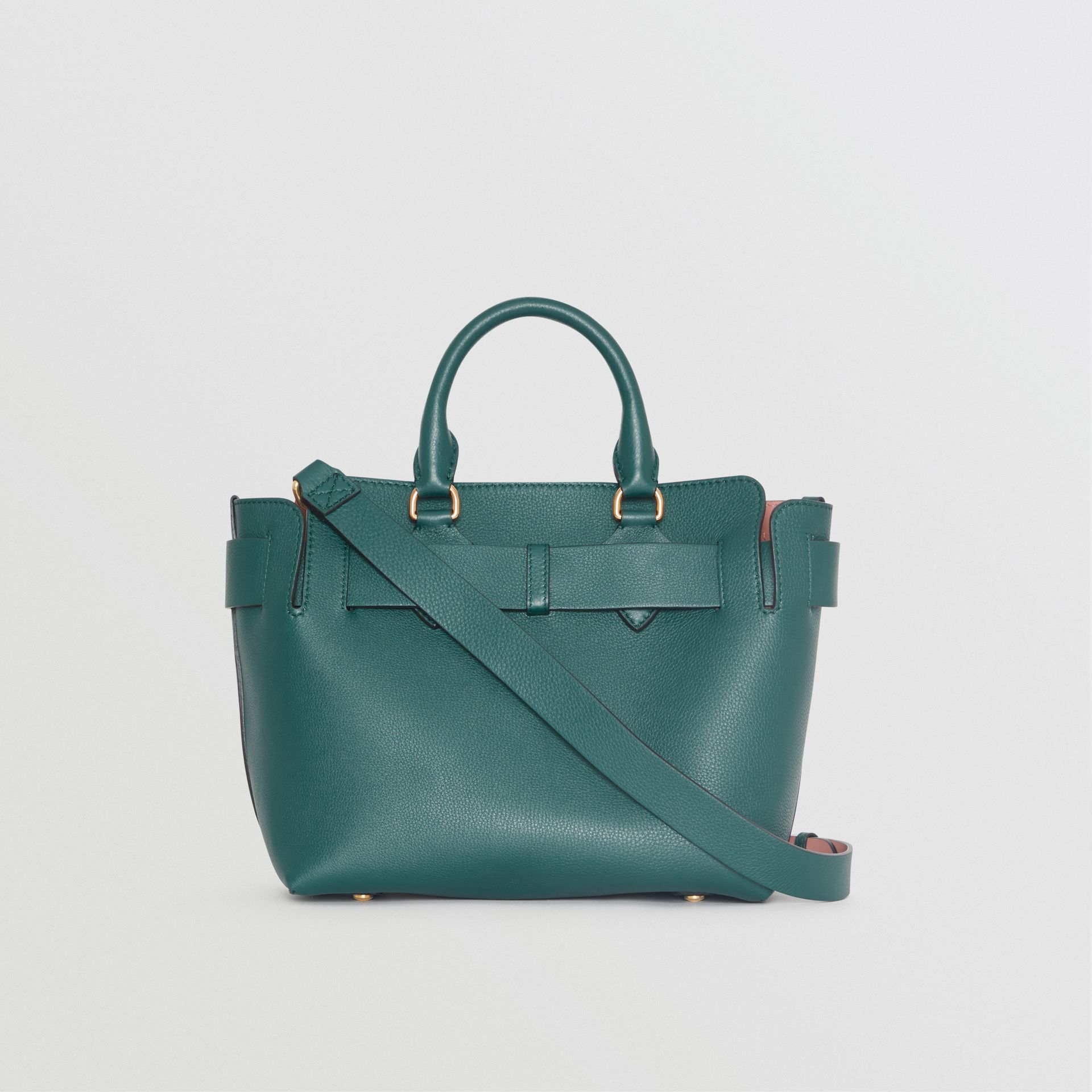 The Small Leather Belt Bag in Dark Cyan - Women | Burberry United Kingdom - gallery image 7