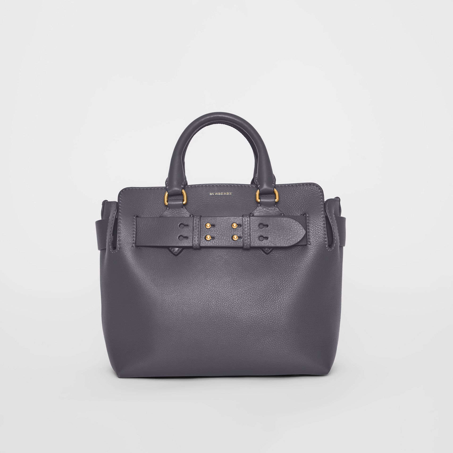 The Small Leather Belt Bag in Charcoal Grey - Women | Burberry Singapore - gallery image 0