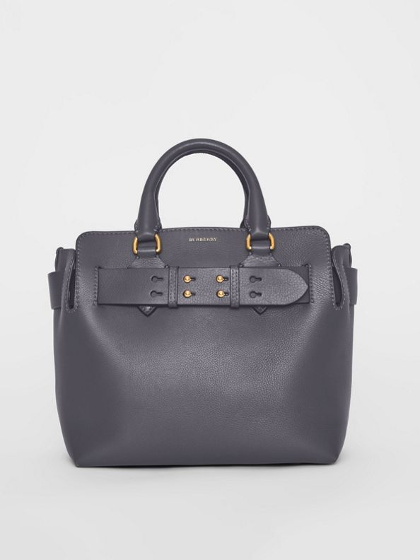 Borsa The Belt piccola in pelle (Grigio Antracite)