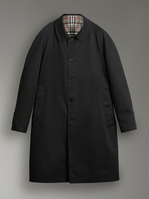 Reissued Reversible Car Coat in Black - Women | Burberry Australia - cell image 3