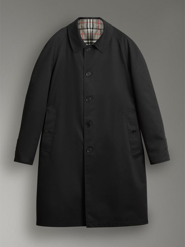 Reissued Reversible Car Coat in Black - Women | Burberry - cell image 3