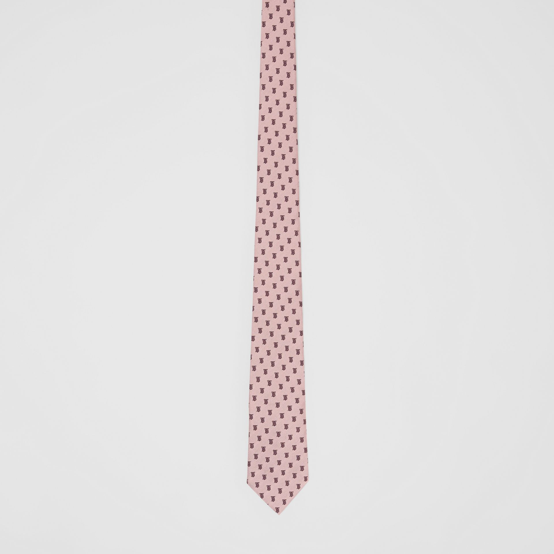 Classic Cut Monogram Silk Jacquard Tie in Pale Pink - Men | Burberry - gallery image 3