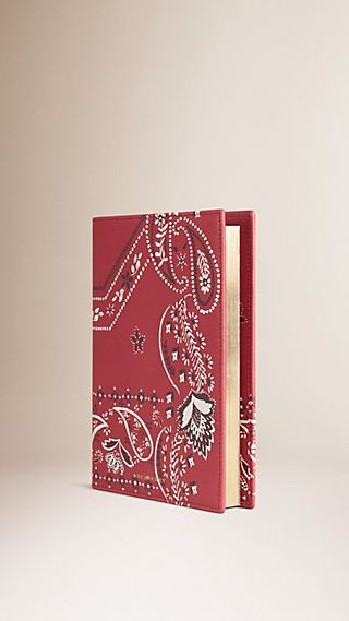 Paisley Print Leather A5 Notebook