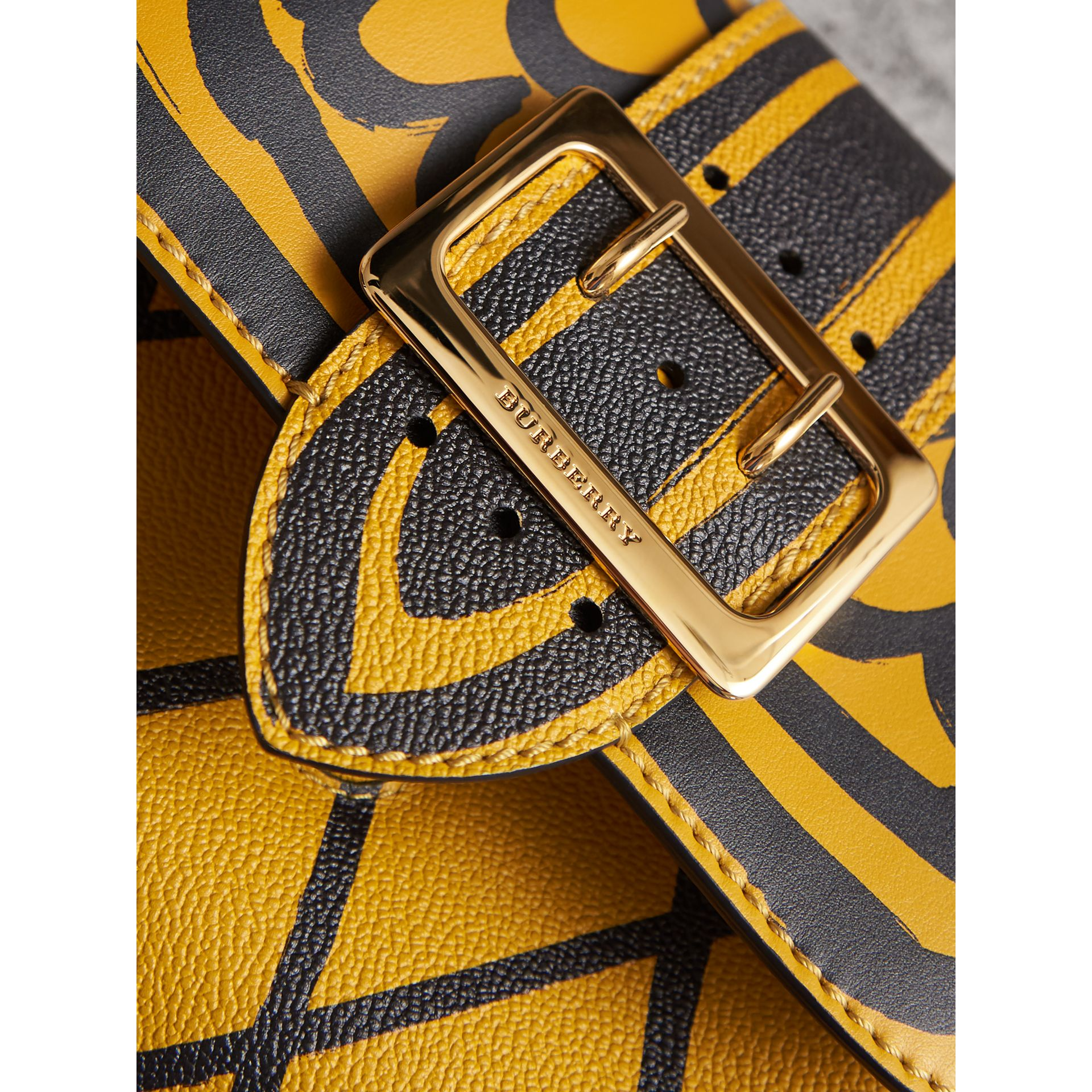 The Buckle Crossbody Bag in Trompe L'oeil Leather in Bright Straw - Women | Burberry - gallery image 2