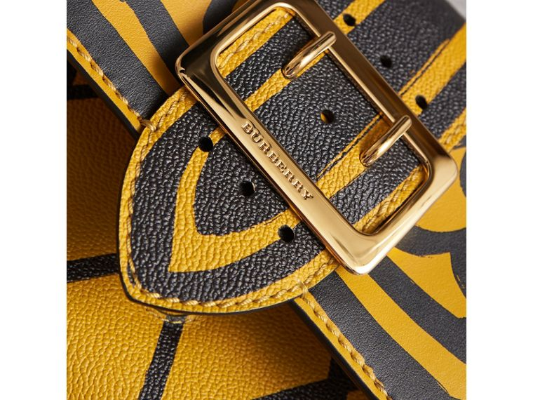 The Buckle Crossbody Bag in Trompe L'oeil Leather in Bright Straw - Women | Burberry - cell image 1