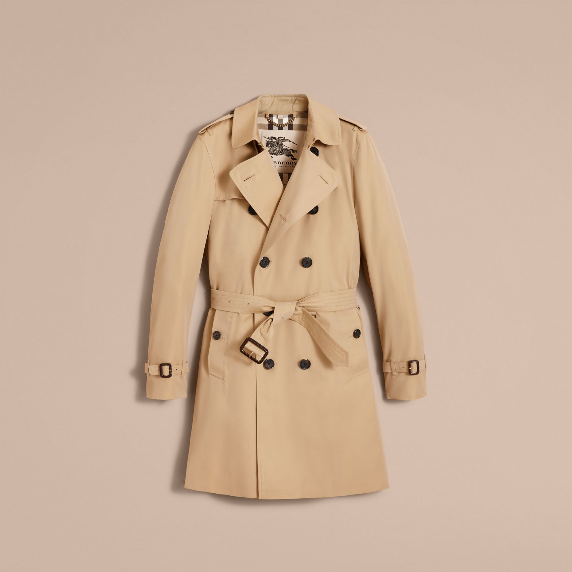 The Kensington – Long Heritage Trench Coat in Honey - Men | Burberry - gallery image 4