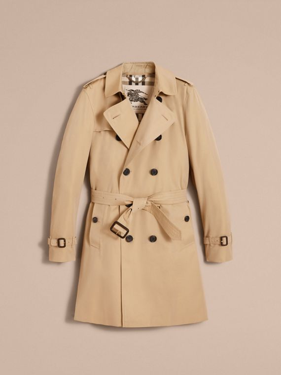 The Kensington – Long Heritage Trench Coat in Honey - Men | Burberry - cell image 3