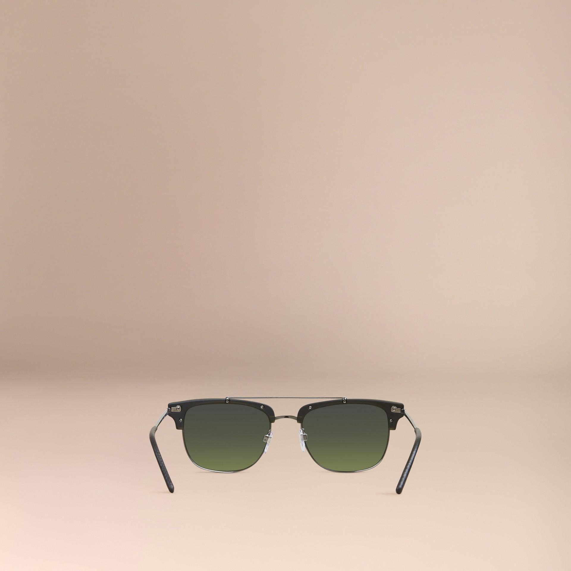 Olive Lunettes de soleil à monture carrée Olive - photo de la galerie 4