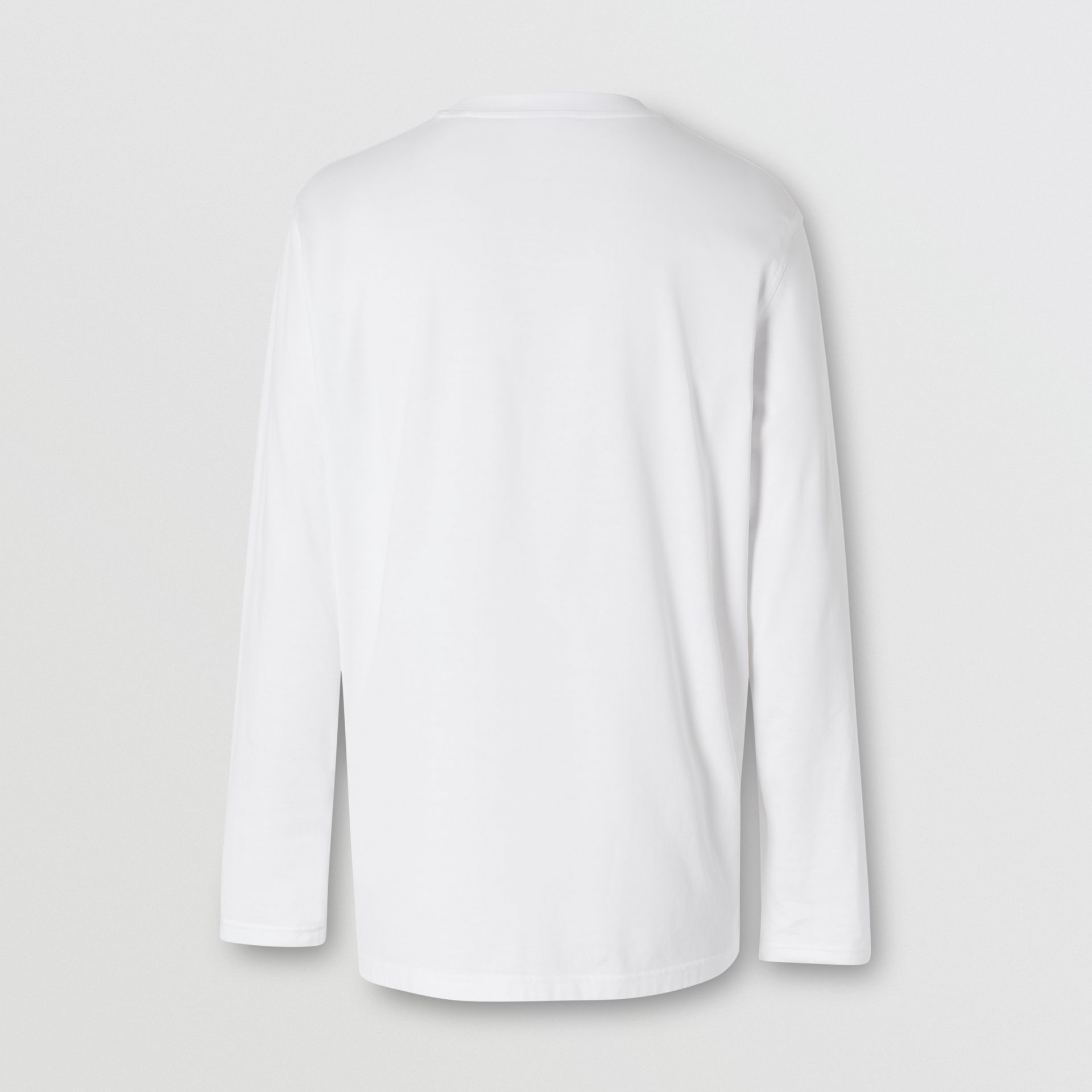 Long-sleeve Monogram Motif Cotton Top in White - Men | Burberry - gallery image 5