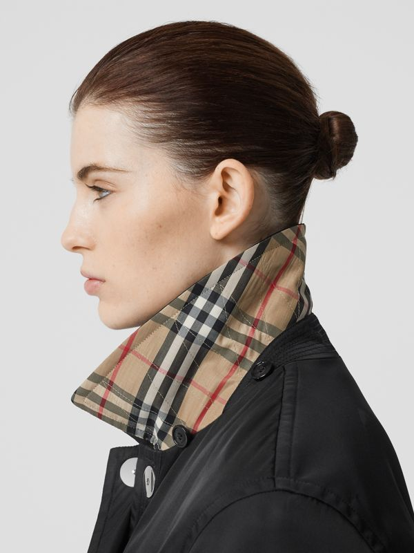 Detachable Hood ECONYL® Jacket in Black - Women | Burberry - cell image 3
