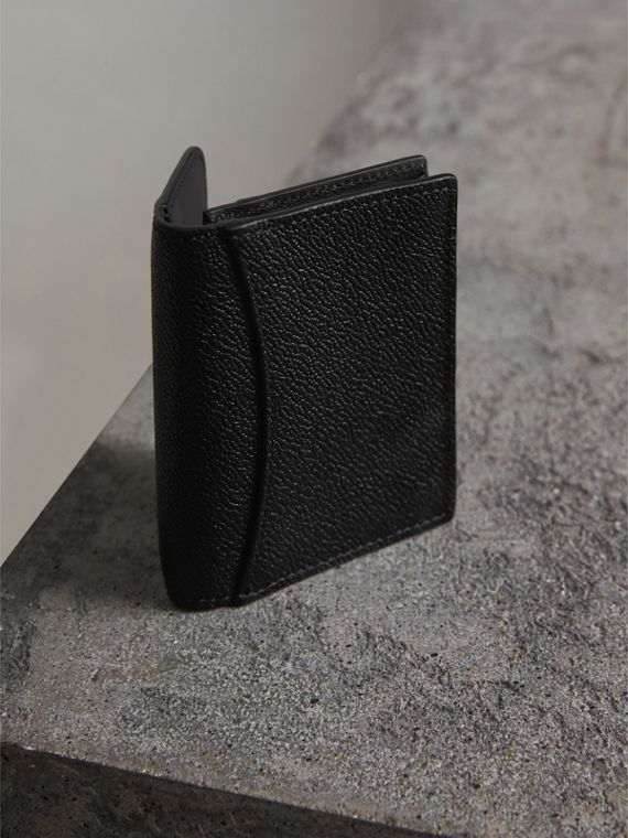 Grainy Leather Card Case in Black - Women | Burberry - cell image 2