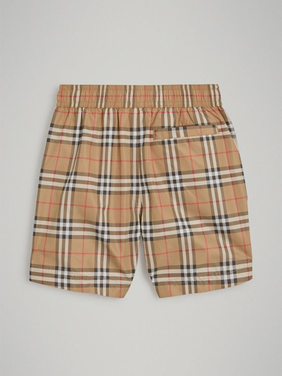 Vintage Check Swim Shorts in Camel - Boy | Burberry Hong Kong - cell image 3