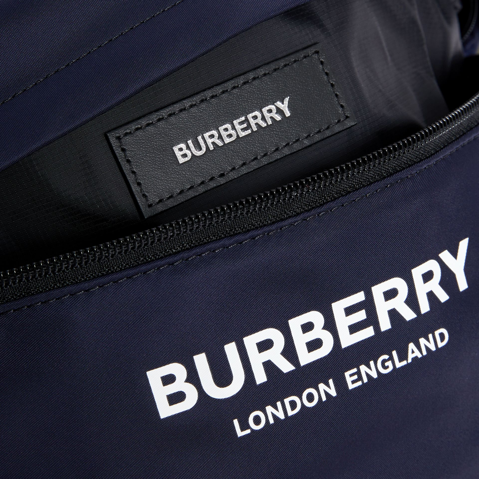 Logo Print Two-tone Convertible Bum Bag in Regency Blue - Children | Burberry - gallery image 3
