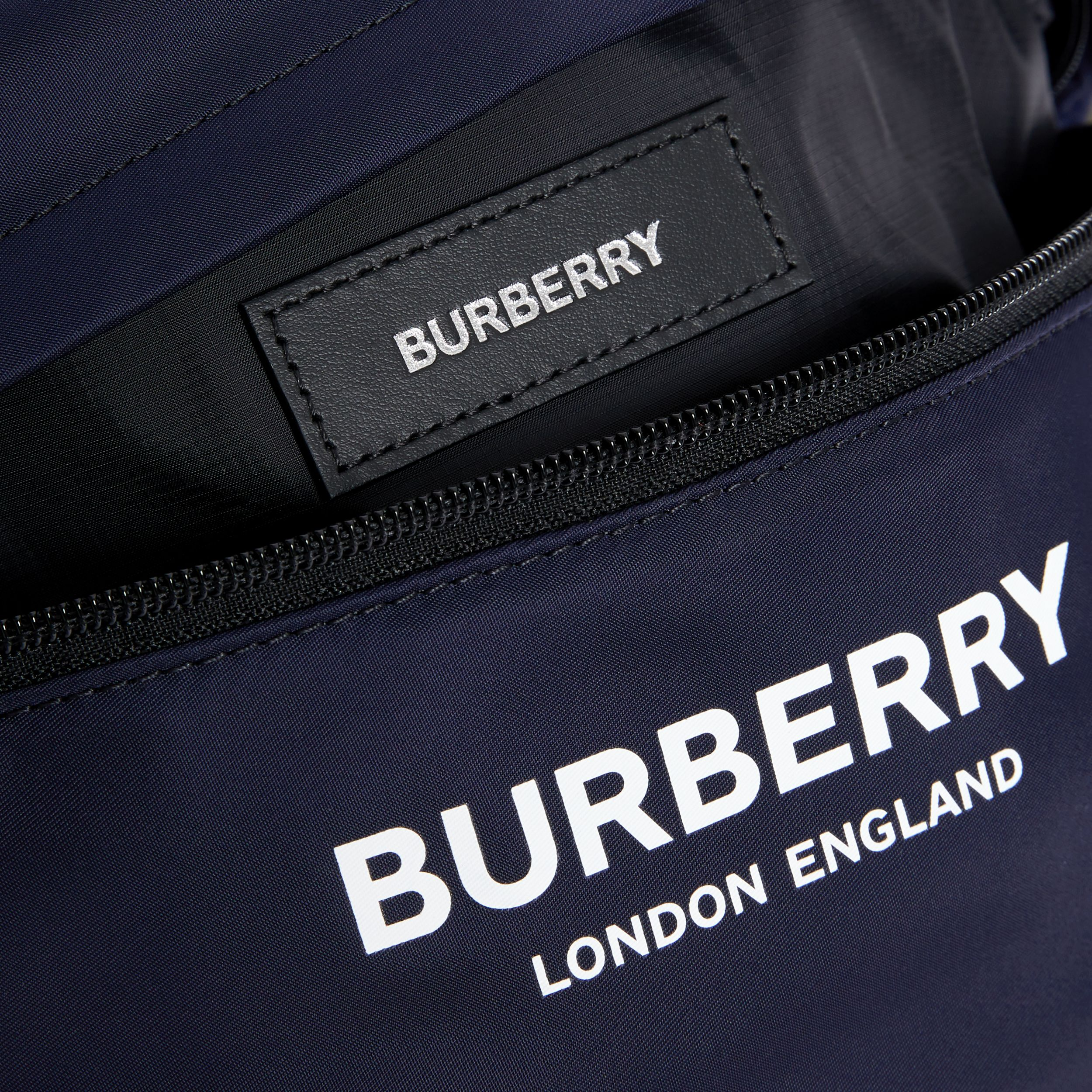 Logo Print Two-tone Convertible Bum Bag in Regency Blue | Burberry - 4