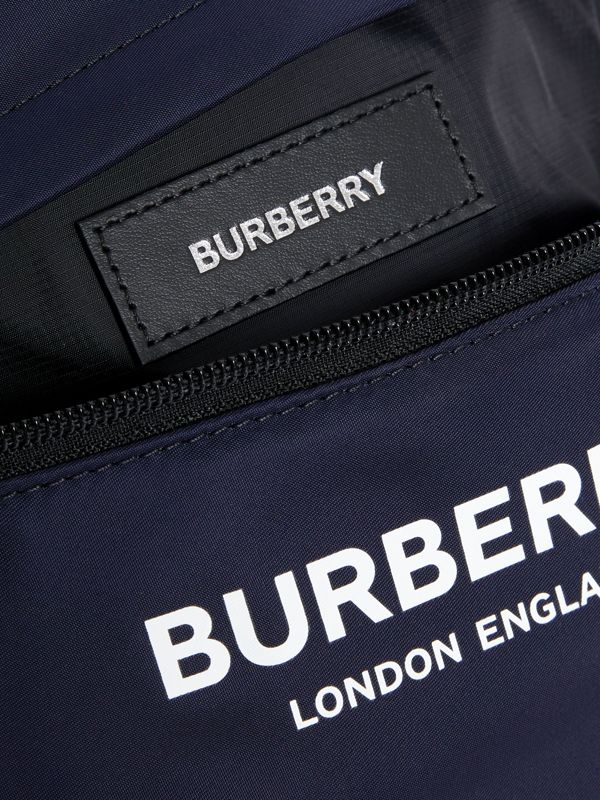 Logo Print Two-tone Convertible Bum Bag in Regency Blue - Children | Burberry - cell image 3