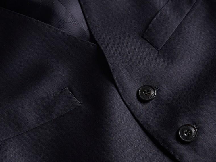 Encre Costume trois pièces de coupe slim semi-entoilé en laine - cell image 1