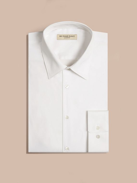 Modern Fit Cotton Poplin Shirt - Men | Burberry Australia