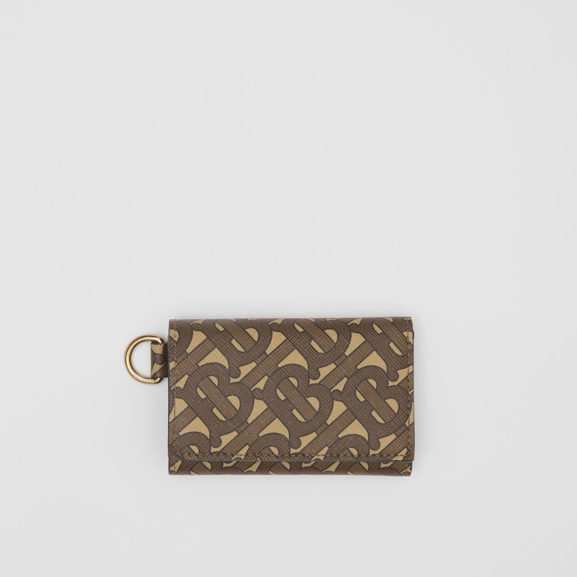 Small Monogram Print E-canvas Folding Wallet in Bridle Brown - Men | Burberry United Kingdom - gallery image 0