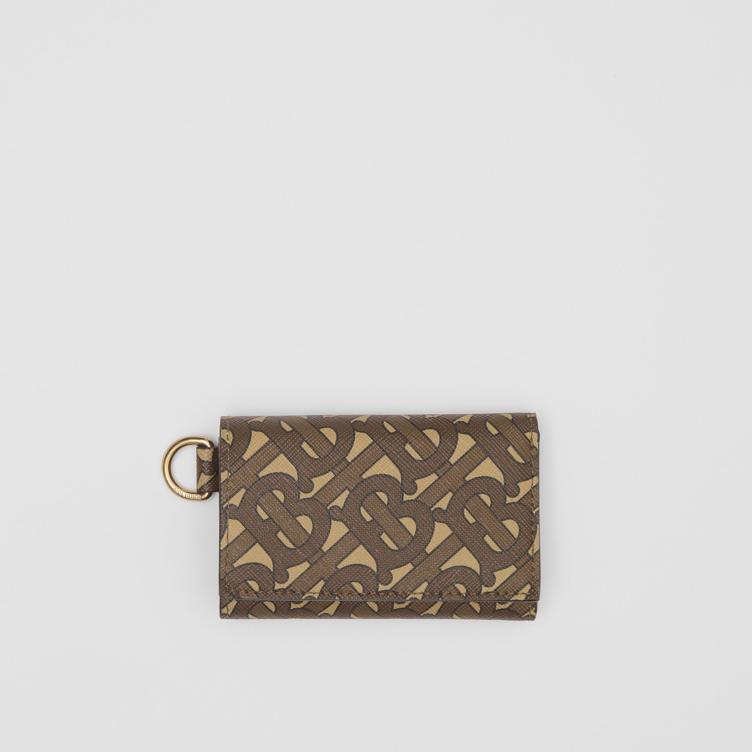 Small Monogram Print E-canvas Folding Wallet in Bridle Brown - Men | Burberry - 1