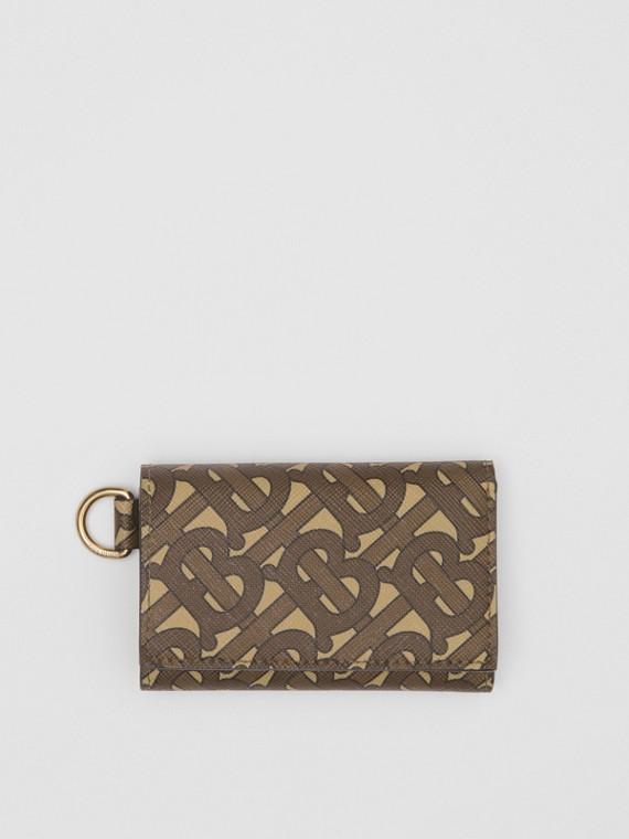 Складной бумажник из ткани e-canvas, компактный размер (Темно-коричневый)
