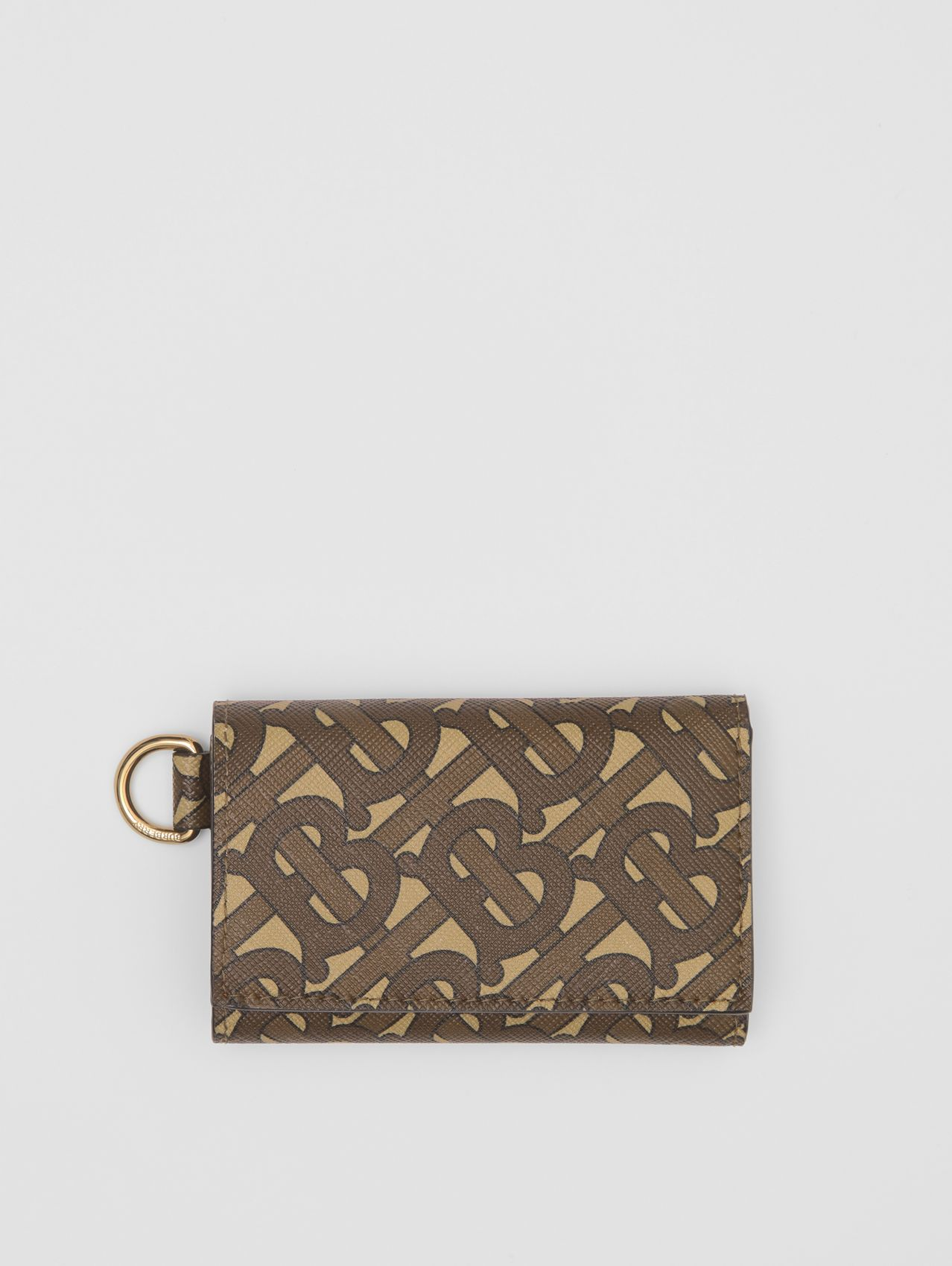 Small Monogram Print E-canvas Folding Wallet in Bridle Brown