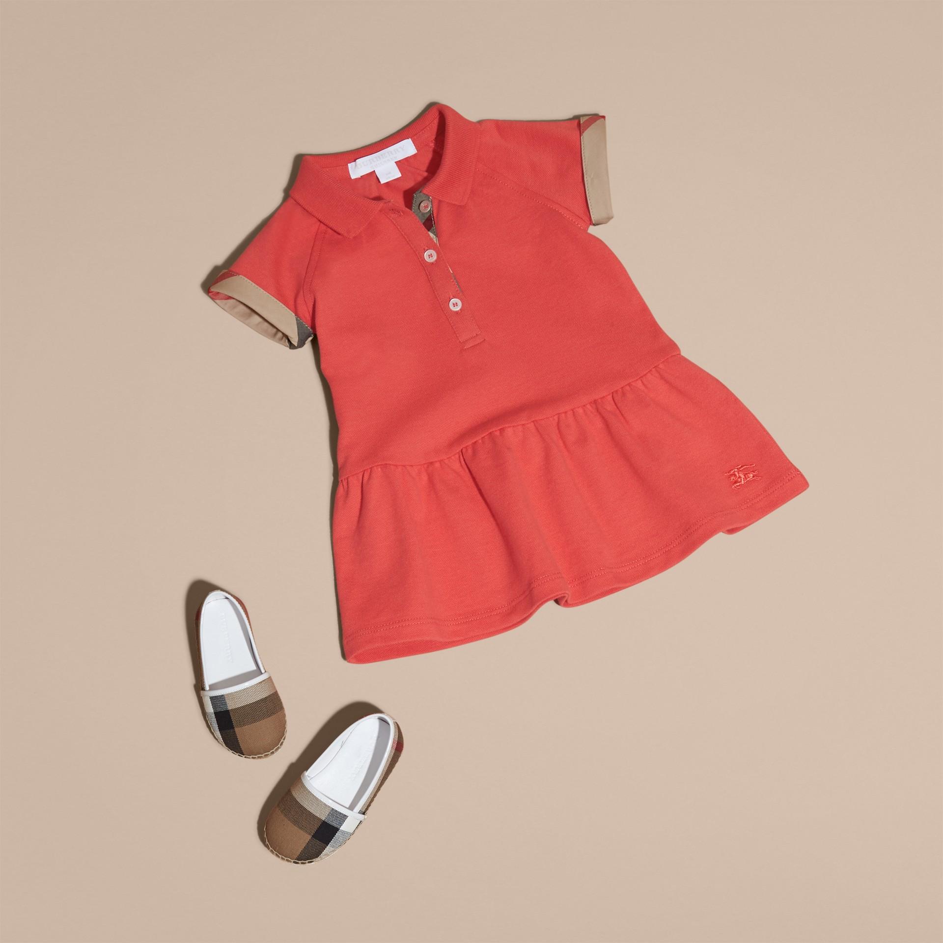 Check Detail Cotton Piqué Shirt Dress - gallery image 5