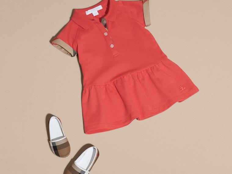 Check Detail Cotton Piqué Shirt Dress - cell image 4