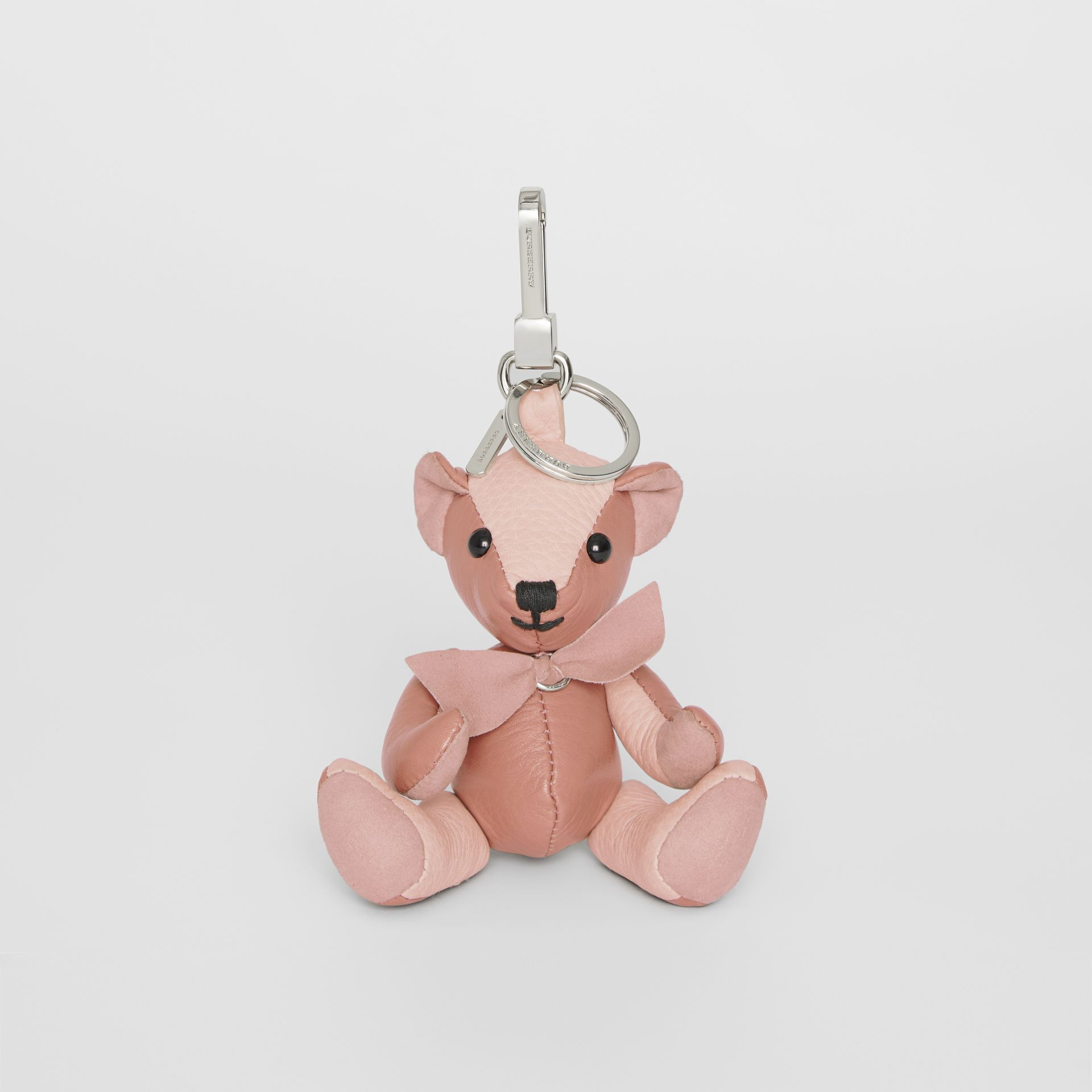 Thomas Bear Charm in Leather in Copper Pink/chalk Pink - Women | Burberry Singapore - gallery image 2