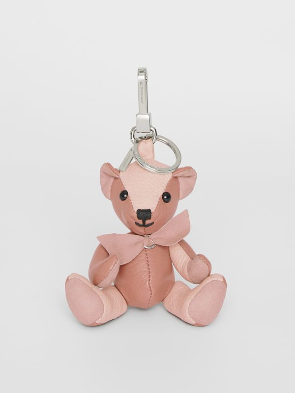 Thomas Bear Charm in Leather in Copper Pink/chalk Pink - Women | Burberry Singapore - cell image 2