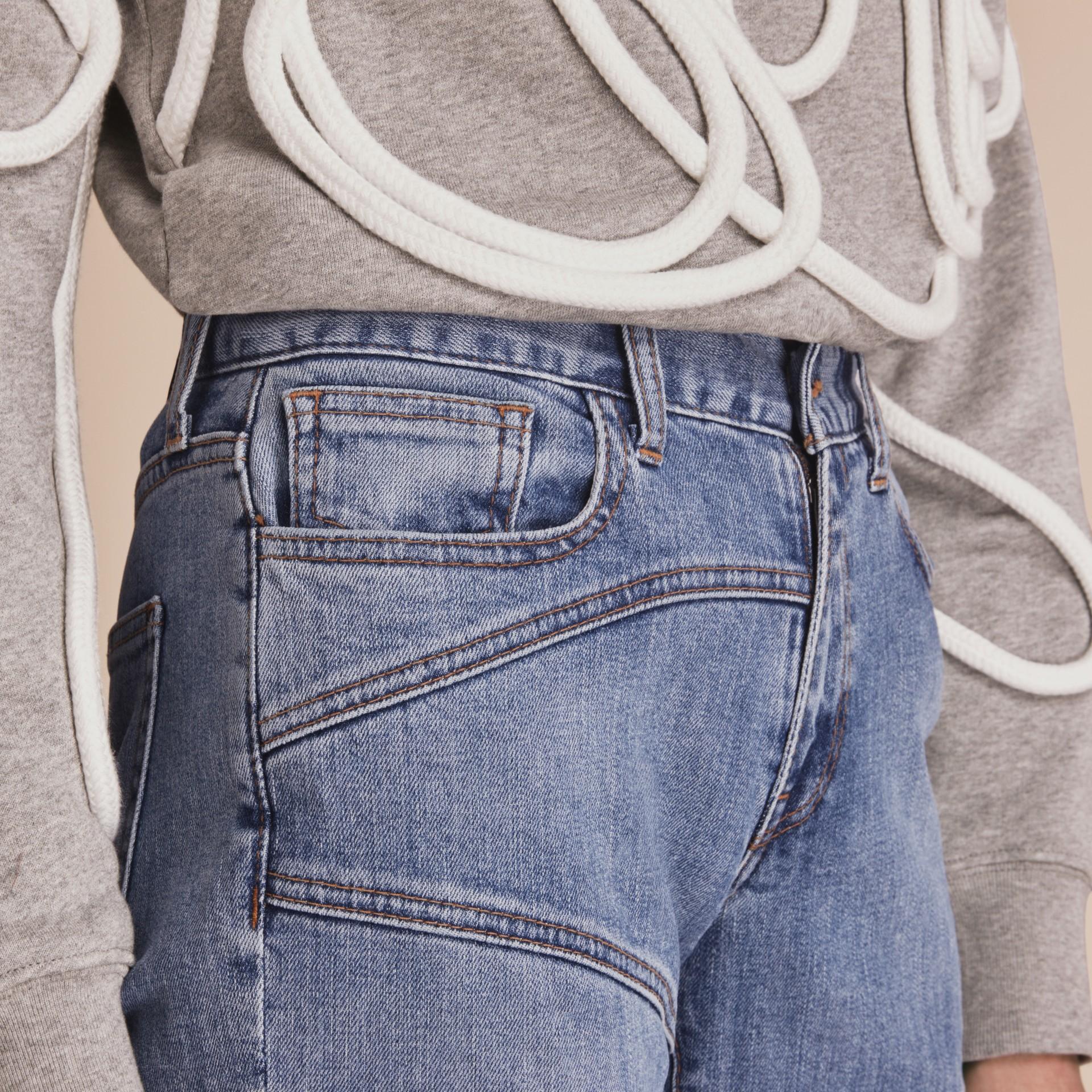 Slim Fit Seam Detail Japanese Denim Jeans - gallery image 5