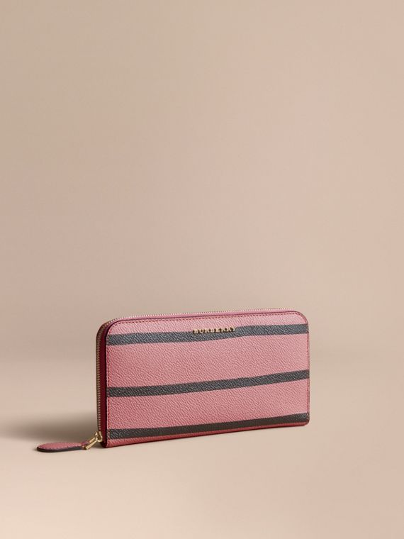 Trompe L'oeil Print Leather Ziparound Wallet