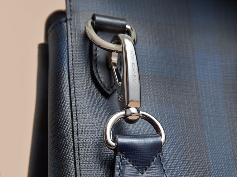 Large London Leather Briefcase in Dark Navy - Men | Burberry - cell image 1
