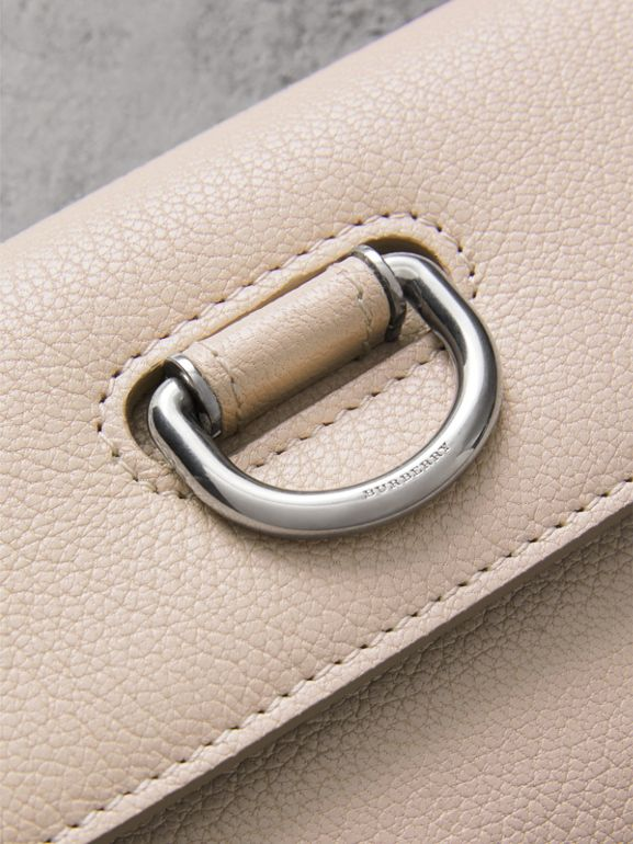 D-ring Grainy Leather Continental Wallet in Stone - Women | Burberry United Kingdom - cell image 1