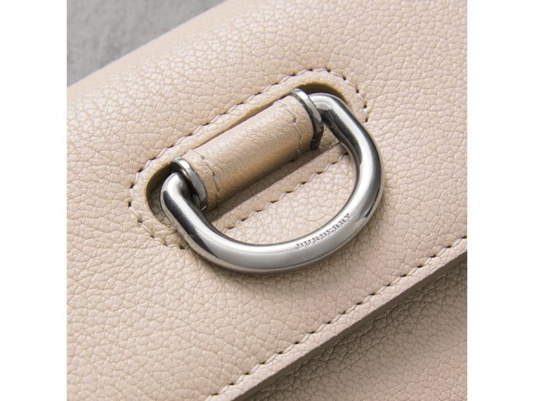 D-ring Grainy Leather Continental Wallet in Stone - Women | Burberry - cell image 1