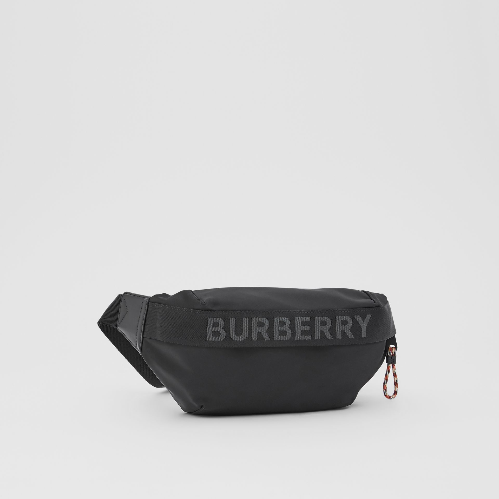 Logo Detail ECONYL® Sonny Bum Bag in Black - Men | Burberry - gallery image 8