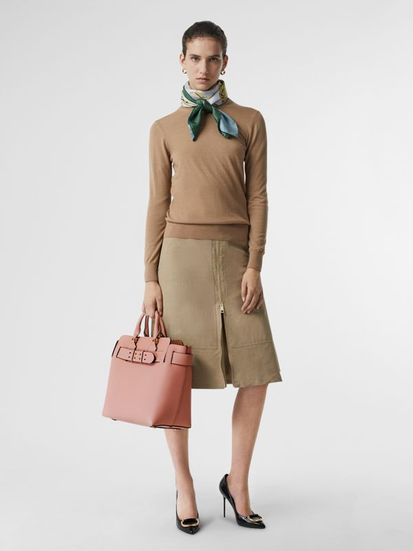 The Medium Leather Belt Bag in Ash Rose - Women | Burberry Australia - cell image 2