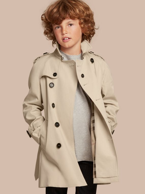 The Wiltshire – Heritage Trench Coat in Stone - Boy | Burberry Canada