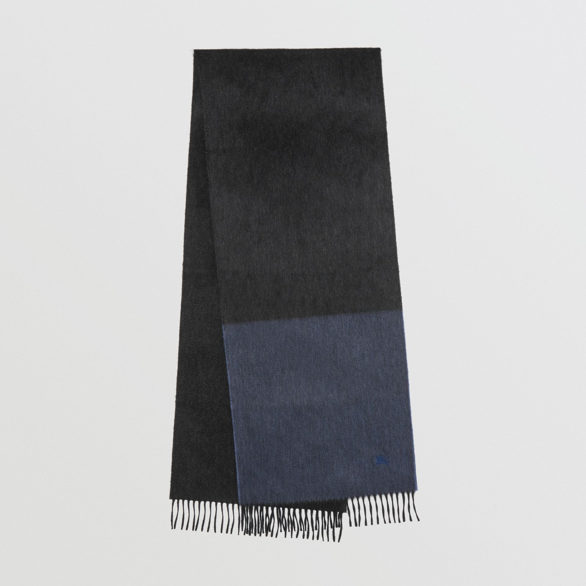 Colour Block Cashmere Scarf in Storm Blue | Burberry Singapore - gallery image 0
