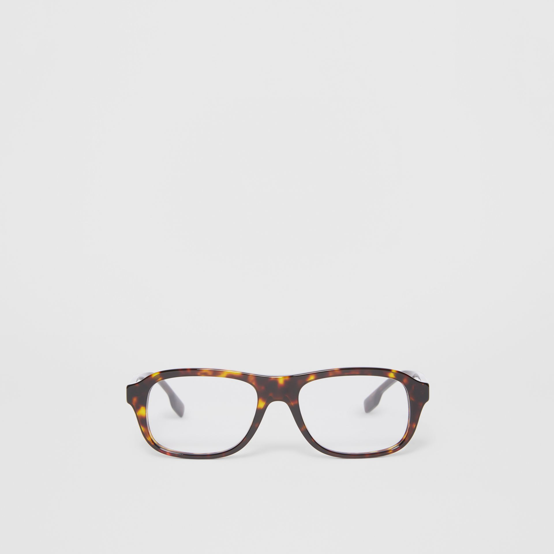 Rectangular Optical Frames in Tortoiseshell - Men | Burberry United States - gallery image 0