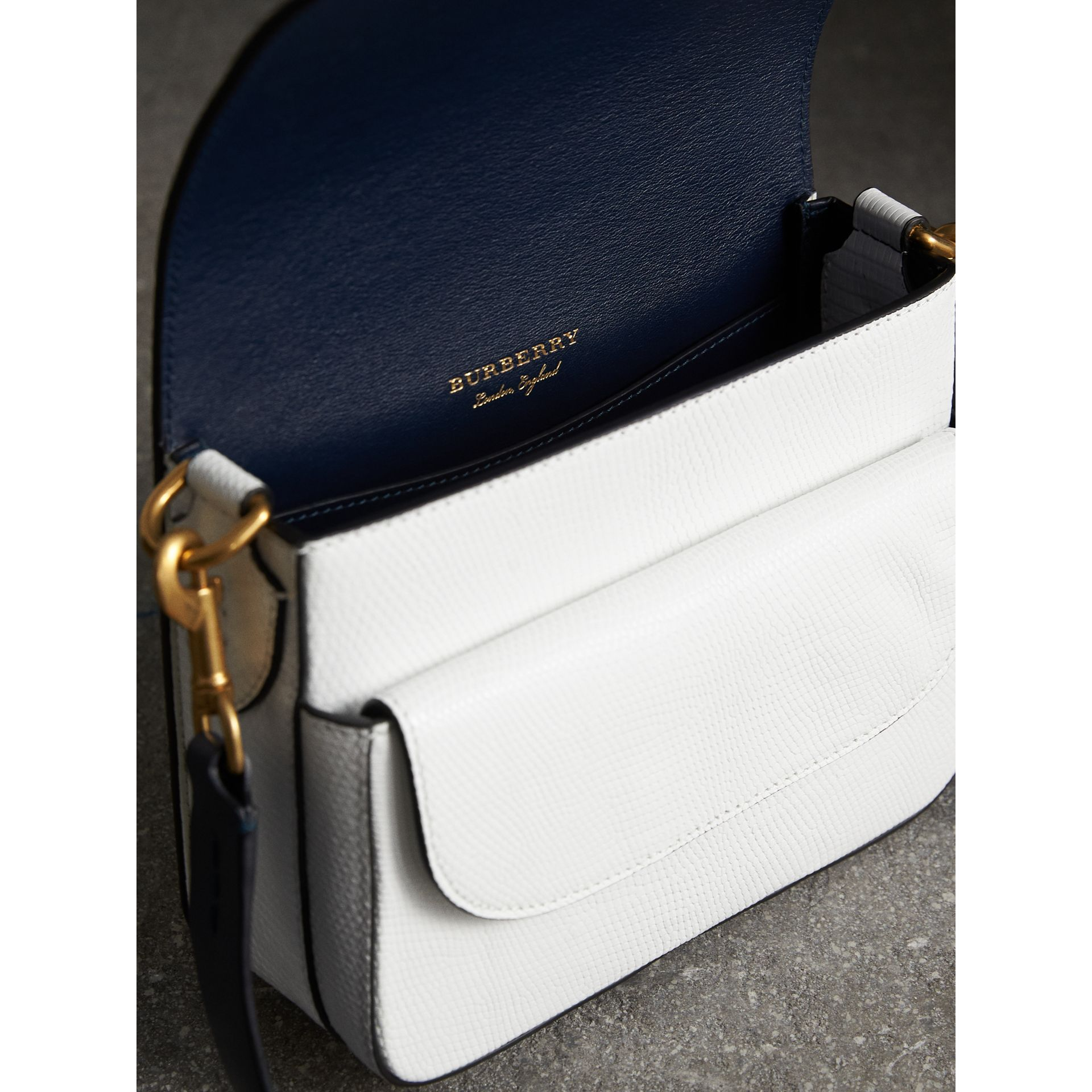 The Square Satchel in Lizard in White - Women | Burberry United Kingdom - gallery image 5