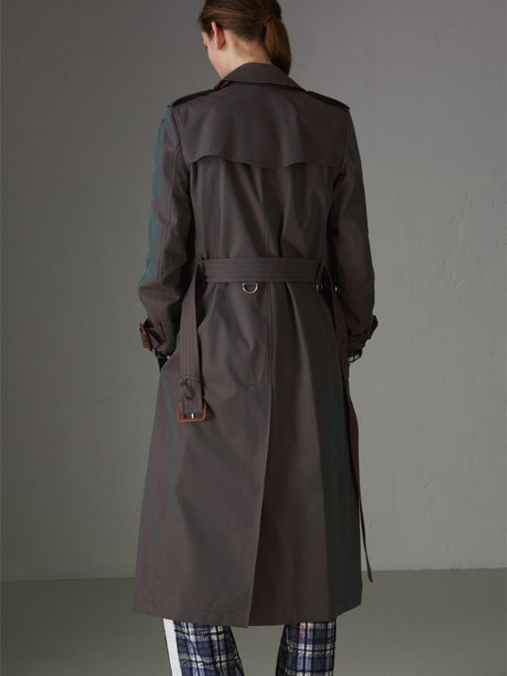 Tropical Gabardine Trench Coat in Dark Antique Green - Women | Burberry - cell image 2