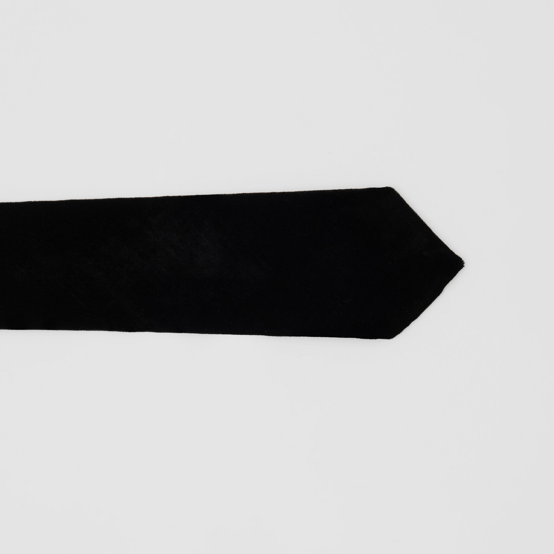 Classic Cut Velvet Tie in Black - Men | Burberry - gallery image 1