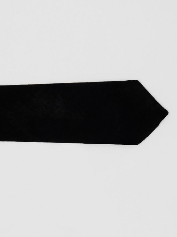 Classic Cut Velvet Tie in Black - Men | Burberry - cell image 1