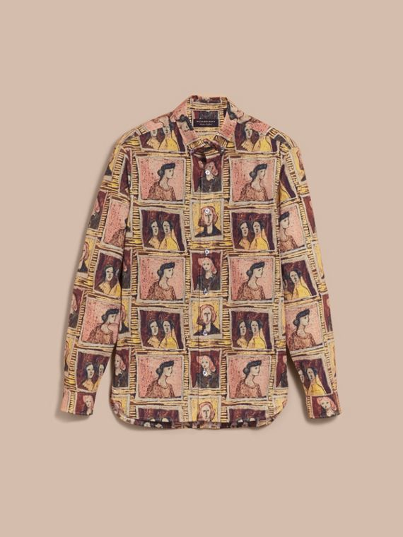 Framed Heads Print Cotton Shirt - Men | Burberry - cell image 3