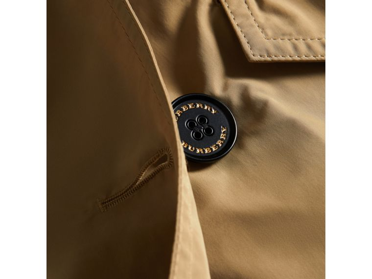 Detachable Hood Shape-memory Taffeta Trench Coat in Honey - Girl | Burberry Canada - cell image 1